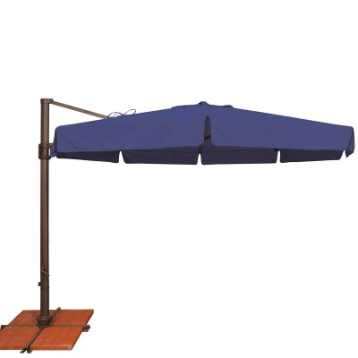 Bali 11' Octagon Solefin Umbrella with Valance and Cross Base