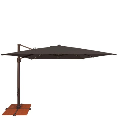 Umbrella Bali Pro 10 Ft. with Starlights in Black