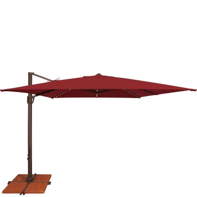 Umbrella Bali Pro 10 Ft. with Starlights in Really Red