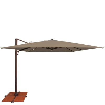 Umbrella Bali Pro 10 Ft. with Starlights in Taupe