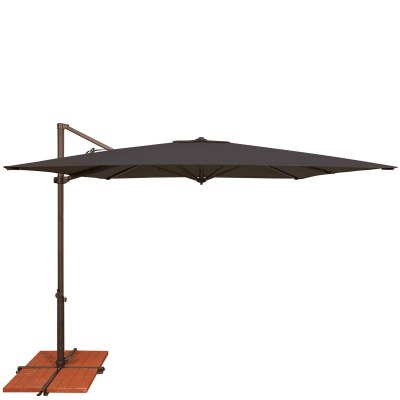 Umbrella Skye 8.6 ft. with Base in Black