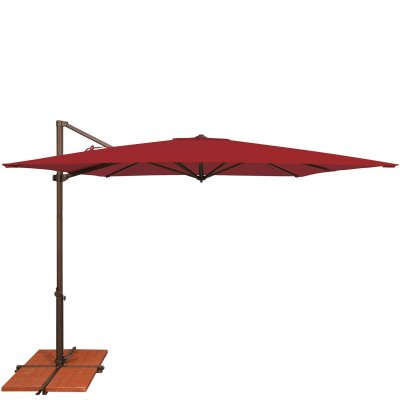 Umbrella Skye 8.6 ft. with Base in Really Red