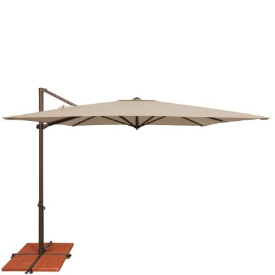Umbrella Skye 8.6 ft. with Base in Beige