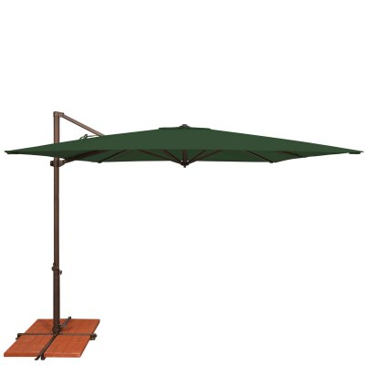 Umbrella Skye 8.6 ft. with Base in Forest Green