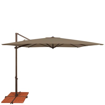 Umbrella Skye 8.6 ft. with Base in Taupe