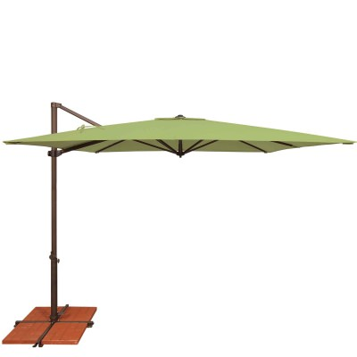 Umbrella Skye 8.6 ft. with Base in Ginkgo