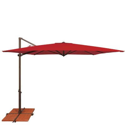 Umbrella Skye 8.6 ft. with Base in Jockey Red