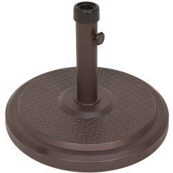 Umbrella Base Cove 50 lbs Polycrete Base in Bronze