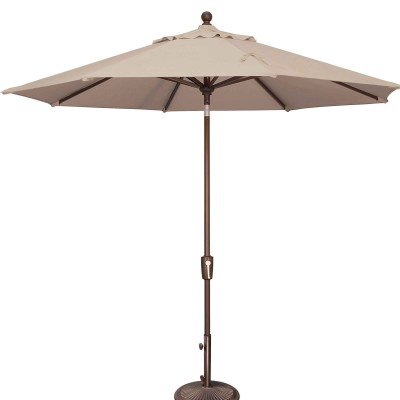 Catalina 9' Octagon Solefin Market Umbrella with Push Button Tilt
