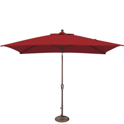 Umbrella Catalina Rectangle Push Button Tilt in Really Red