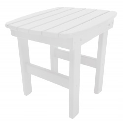 Durawood Essential Adirondack Side Table - White