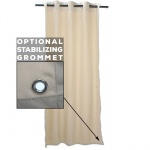 Sunbrella Canvas White Outdoor Curtain with Tabs