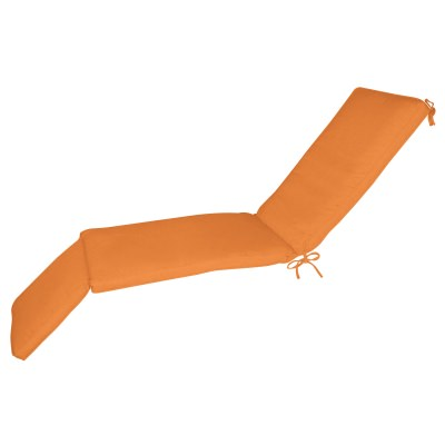 Sunbrella Chaise Cushion Box Double Welt More Colors Orange