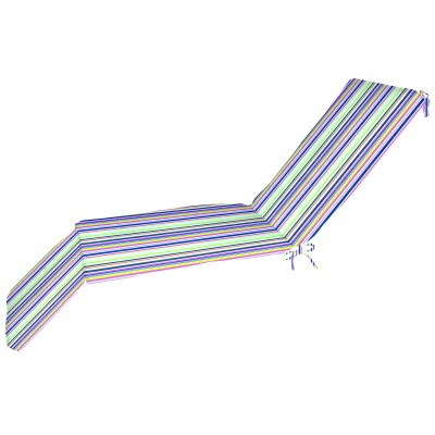 Sunbrella Chaise Cushion Box Double Welt More Colors Stripe