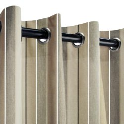Sunbrella Milano Char Outdoor Curtain