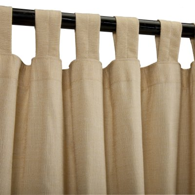 Sunbrella Sheer Illusion Honey Outdoor Curtain with Tabs