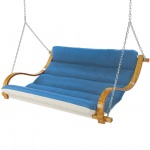 Deluxe Cushioned Double Swing - Canvas Regatta