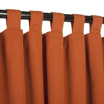 Rust Sunbrella Outdoor Curtain with Tabs