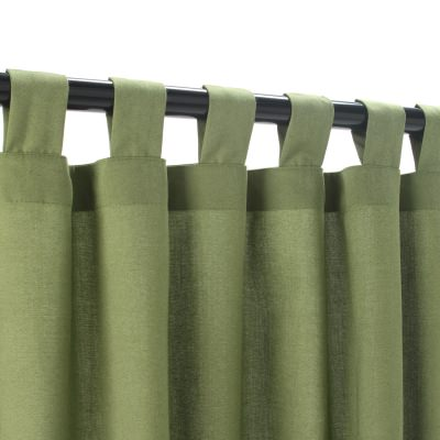 Spectrum Cilantro Sunbrella Outdoor Curtain with Tabs