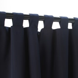 Sunbrella Canvas Navy Outdoor Curtain with Tabs