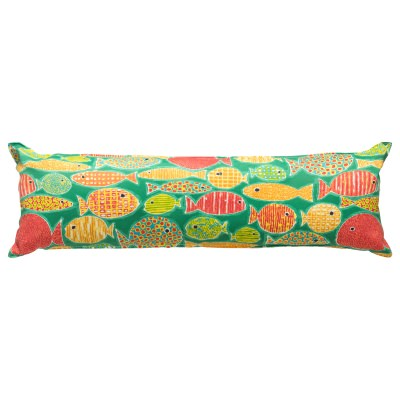 52 Inch Long Hammock Pillow with Polyester Filling - Sunfish Lagoon