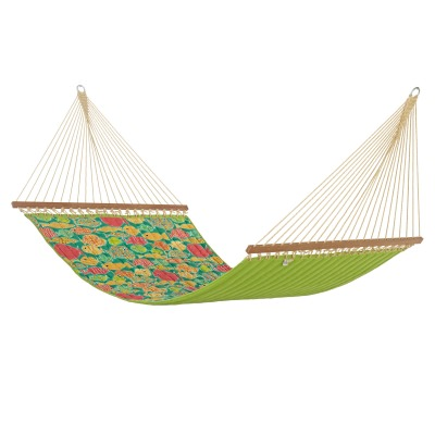 Sunfish Lagoon Large Quilted Hammock Made in USA with Reversible Sunbrella Fabric