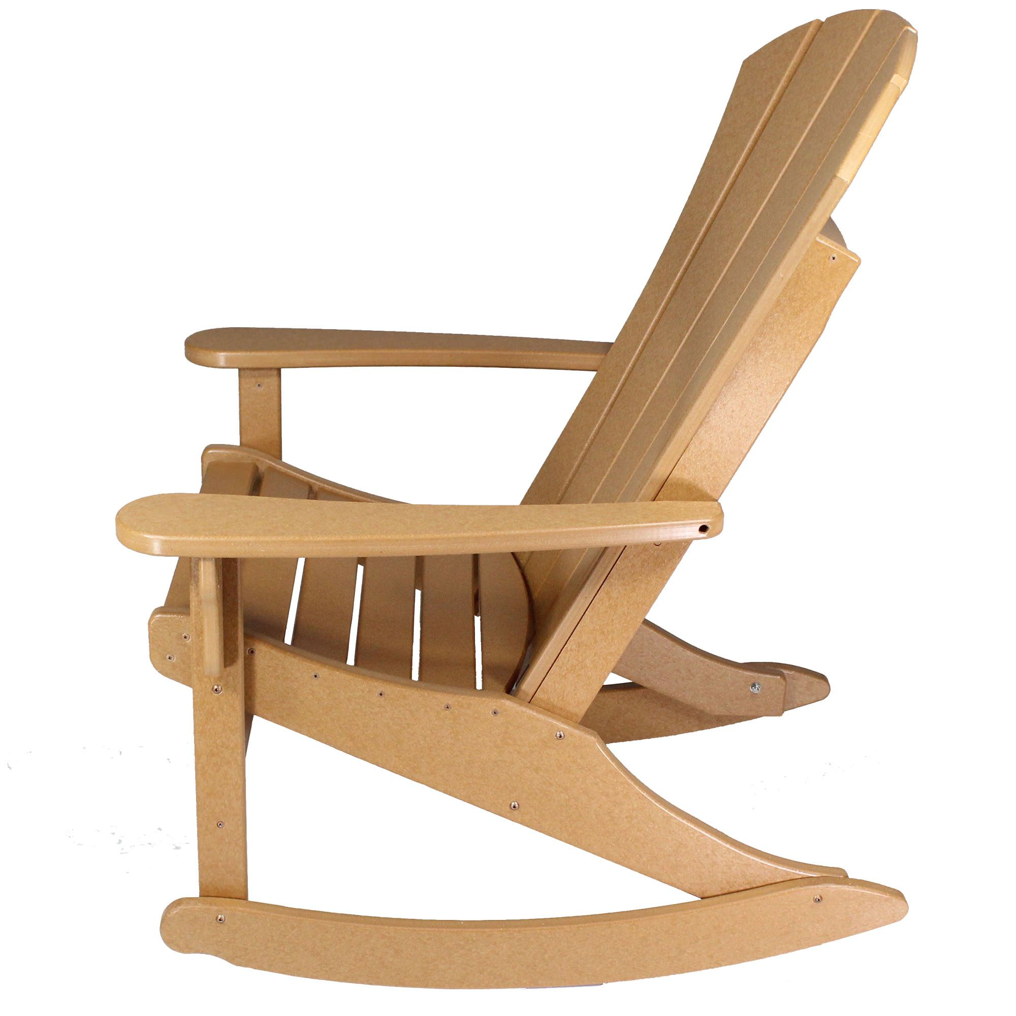 ... Durawood Sunrise Adirondack Rocker   Black ...