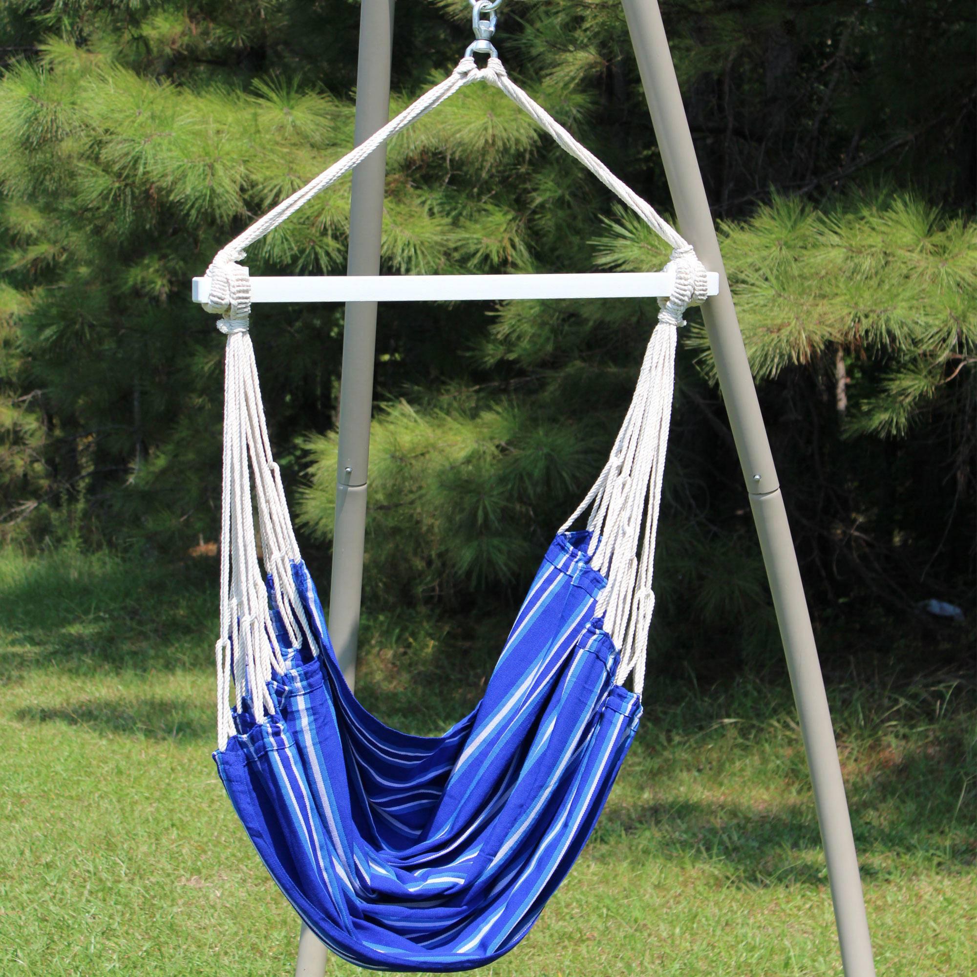 Children 39 s south american fabric hammock swing dfohome for Fabric hammock chair swing