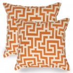 Tangerine Keyes Indoor/Outdoor Throw Pillow - Set of Two
