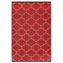 Tangier Pinkberry and Bronze Outdoor Mat