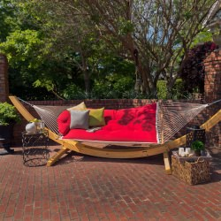 Tufted Hammock - Canvas Jockey Red