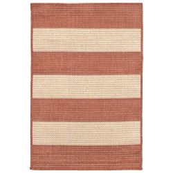 Terrace Rugby Terracotta Outdoor Rug