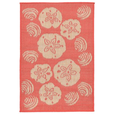 Terrace Shell Toss Coral Outdoor Rug