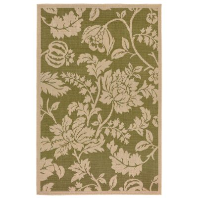 Terrace Floral Green Outdoor Rug