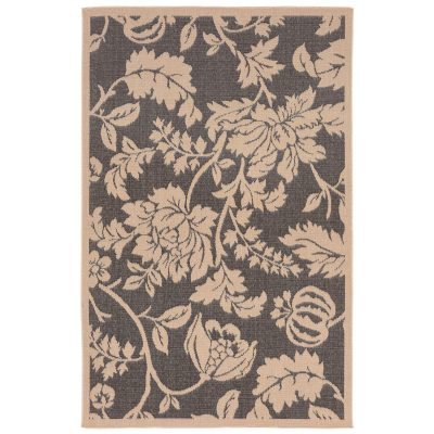 Terrace Floral Charcoal Outdoor Rug