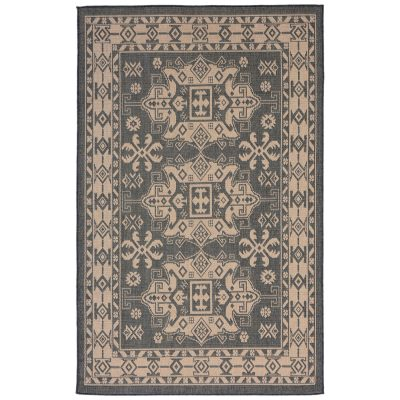 Terrace Kilm Charcoal Outdoor Rug