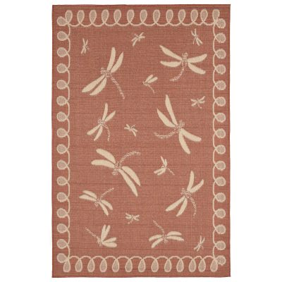 Terrace Dragonfly Terracotta Outdoor Rug