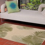 Terrace Palm Green Outdoor Rug