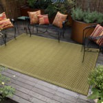 Terrace Texture Green/Ivory Outdoor Rug