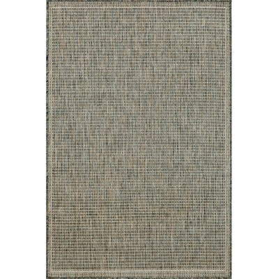Terrace Texture Silver/Ivory Outdoor Rug