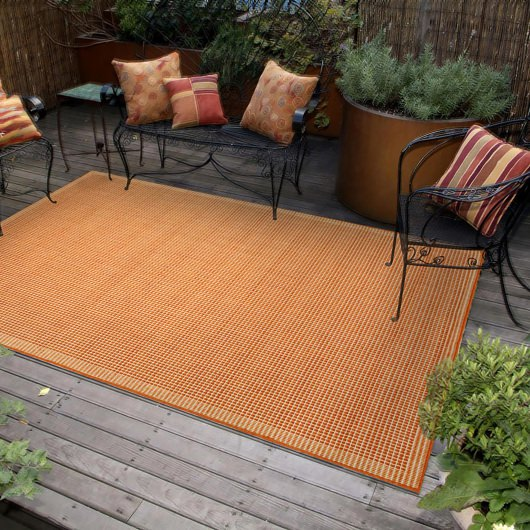 Shop Terrace Texture Terracotta Ivory Outdoor Rug Liora