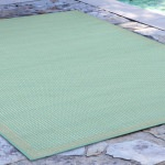 Terrace Texture Turquoise Outdoor Rug