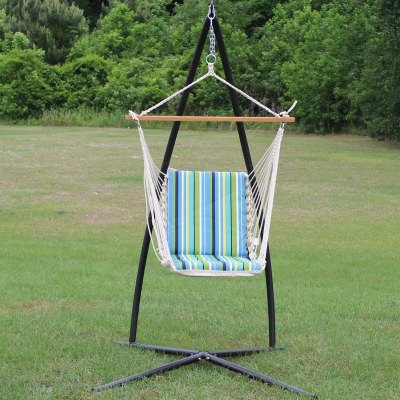 Single Cushioned Swing - Topanga Lagoon Stripe