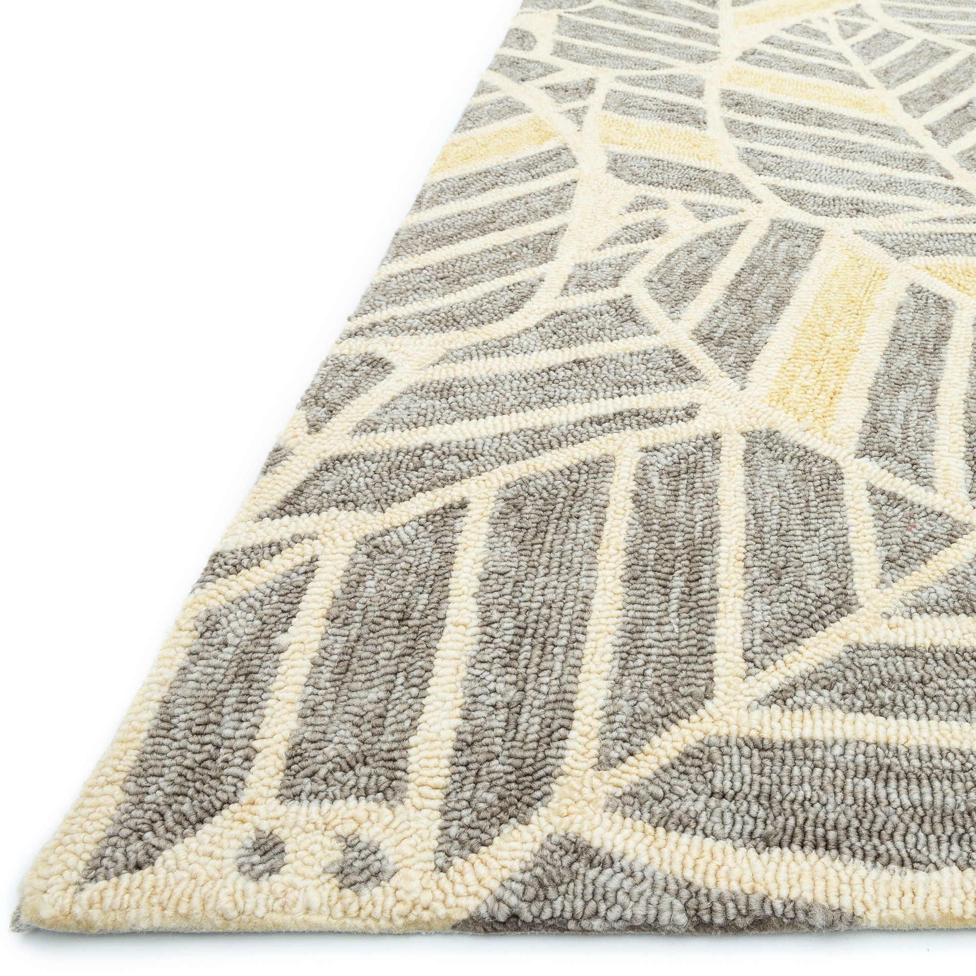 ... Tropez Foliage Gray/ Gold Outdoor Rug (7ft 10in X 7ft 10in Round)