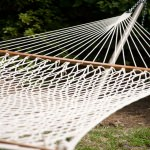 55 Inch Wide Soft Spun Cotton Rope Hammock with Hanging Hardware and FREE Pillow