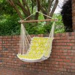 Tufted Single Swing Made with Sunbrella - Reflex II Citron