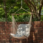 Tufted Single Swing Made with Sunbrella - Spectrum Dove