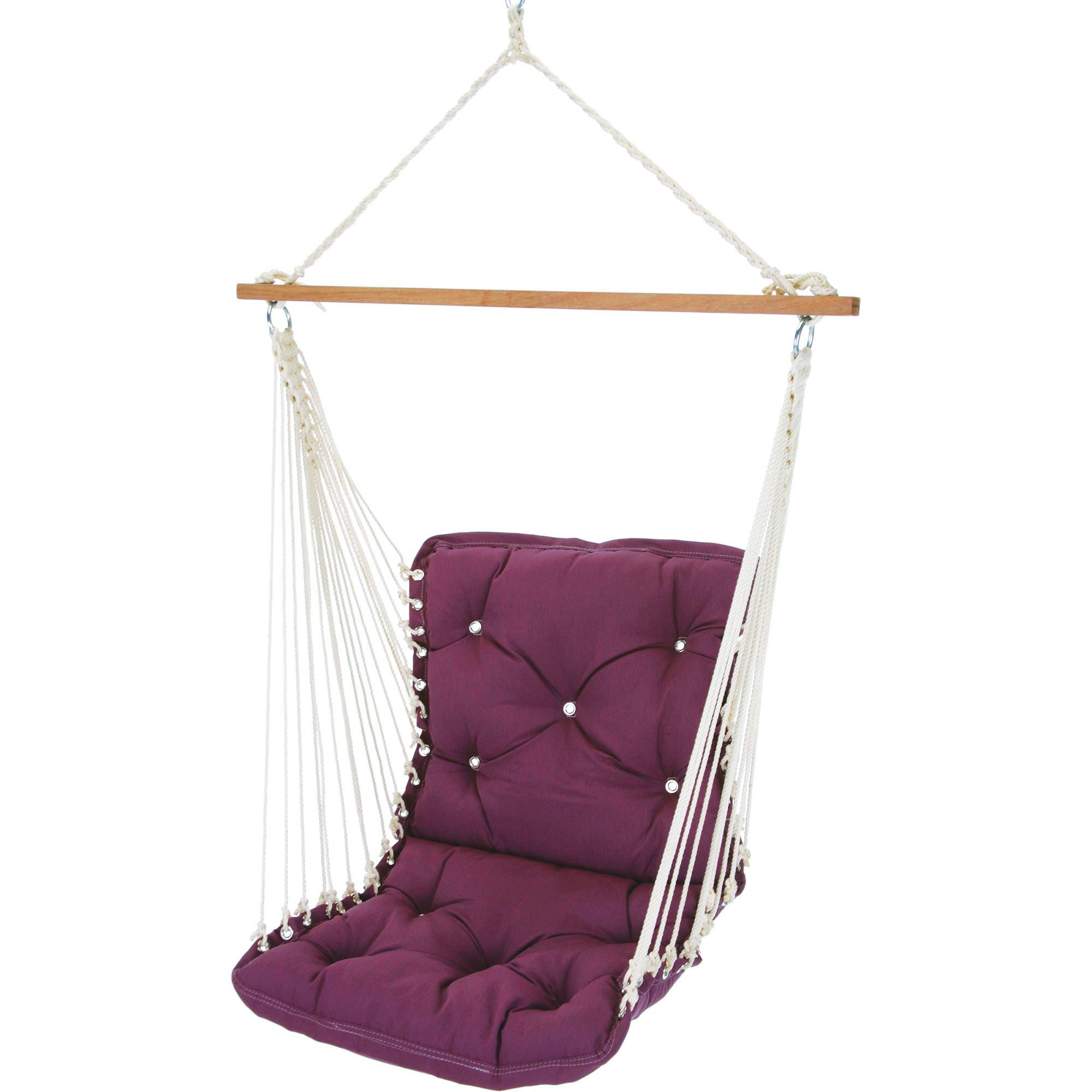Tufted Single Swing Made With Sunbrella   Canvas Iris