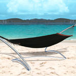 Air Lounge Black Hammock