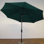 11 ft. Crank Lift Acrylic Premium Market Umbrella with Licorice Pole